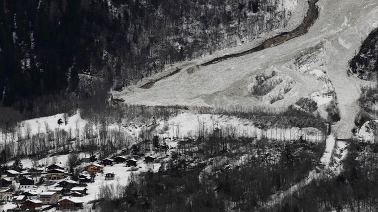 Avalanche du Bourgeat aux houches le 10/01/2018 - Source IRMA Grenoble / Sébastien Gominet