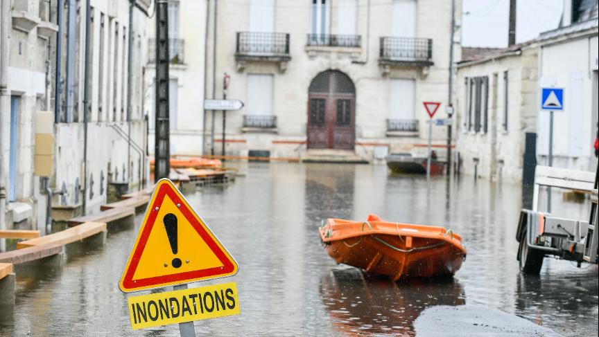 Inondation Sainte (Charente) 8 février 2021 / Copyright : DARRI/MAIF